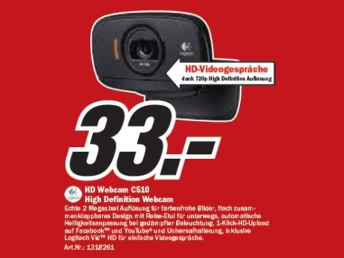 Logitech HD Webcam C510 © Media Markt