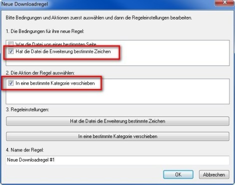 FlashGet: Download-Regel anlegen