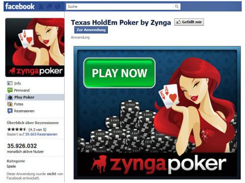 Platz 3: Texas HoldEm Poker © Facebook
