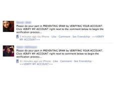 Spam-Meldung bei Facebook ©allfacebook.com
