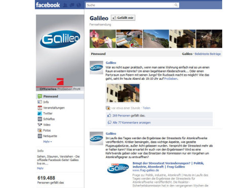Platz 2: Galileo © Facebook