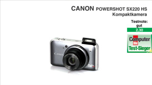 Video zum Test: Canon Powershot SX220 HS