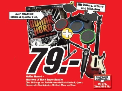 Guitar Hero 6 – Warriors of Rock Super Bundle © Media Markt