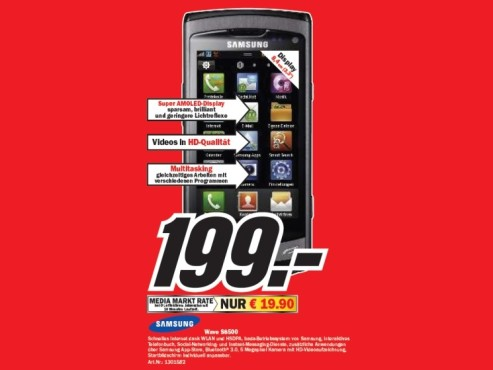 Samsung Wave S8500 © Media Markt