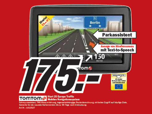 Tomtom Start 25 Europe Traffic © Media Markt