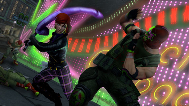 Actionspiel Saints Row – The Third: Waffe © THQ