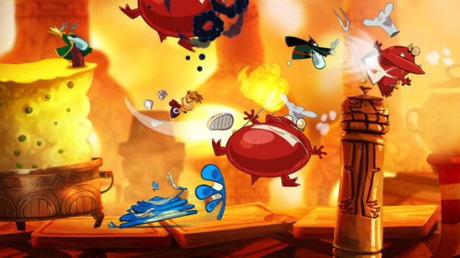 Actionspiel Rayman Origins: HotFood © Ubisoft
