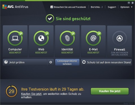 Screenshot 1 - AVG Anti-Virus 2013 (64 Bit)