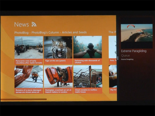 Windows 8 Video neben App © YouTube.com