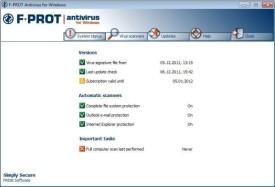 Screenshot 2 - F-Prot Antivirus (64 Bit)