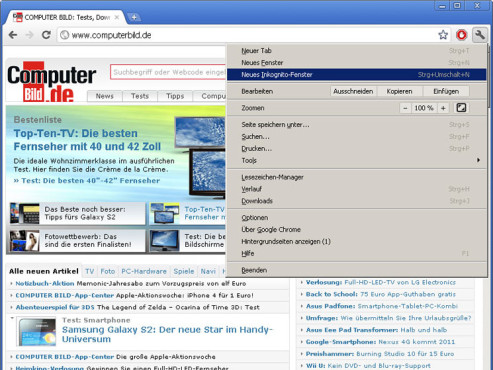 Screenshot Chrome © COMPUTER BILD