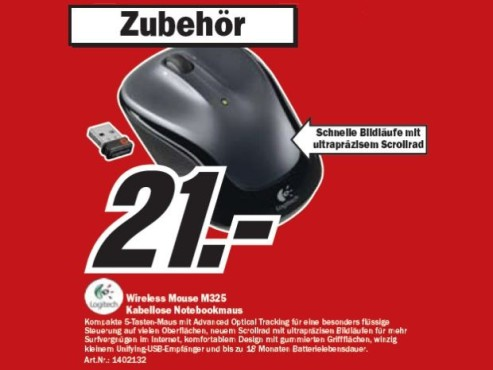 Logitech Wireless Mouse M325 © COMPUTER BILD