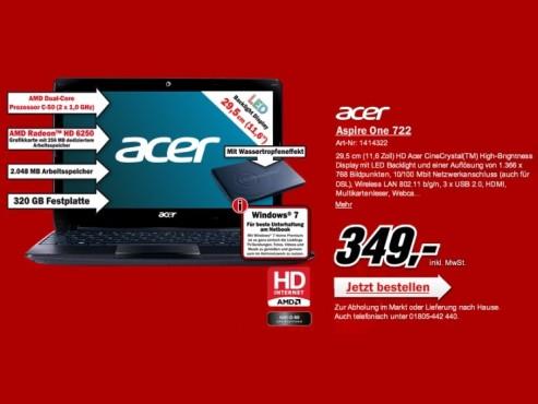 Acer Aspire One 722 ©COMPUTER BILD