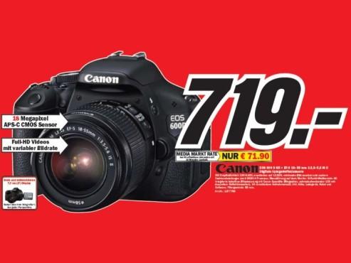 Canon EOS 600 D Kit ©COMPUTER BILD