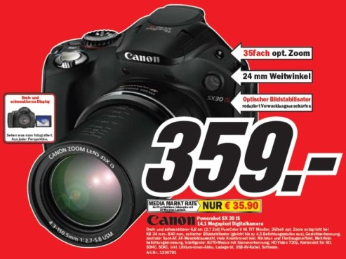 Canon Powershot SX 30 IS © COMPUTER BILD