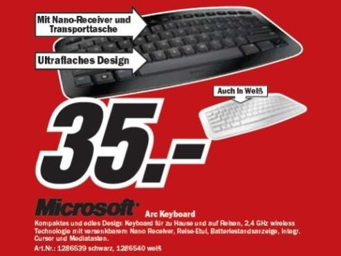 Microsoft Arc Keyboard ©COMPUTER BILD