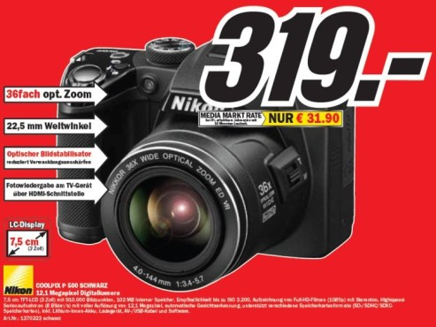 Nikon Coolpix P 500 ©COMPUTER BILD