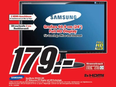 Samsung SnycMaster BX2431 LED ©COMPUTER BILD
