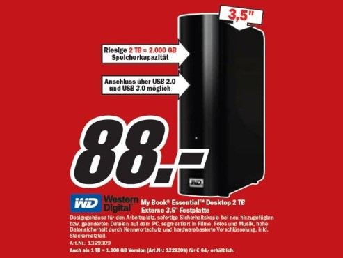 Western Digital My Book Essential Desktop 2TB © COMPUTER BILD