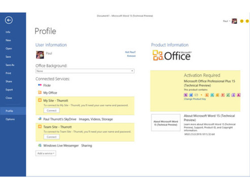 Microsoft Word 15 © http://www.winsupersite.com/article/office/quick-peek-office-15-beta-refresh-142905