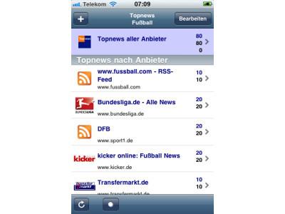 Topnews � Fu�ball Screen ©Computer BILD