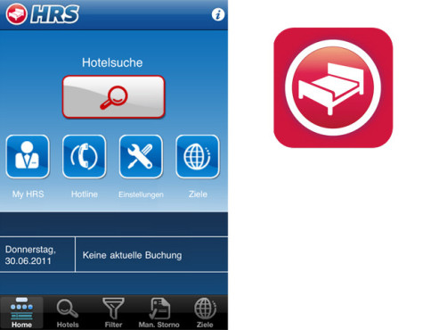 HRS-App ©HRS, Apple
