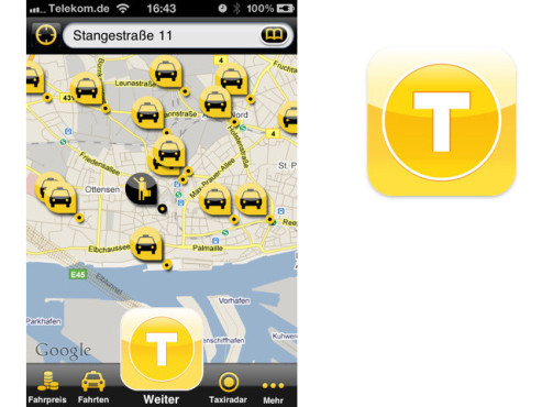 MyTaxi ©Intelligent Apps GmbH