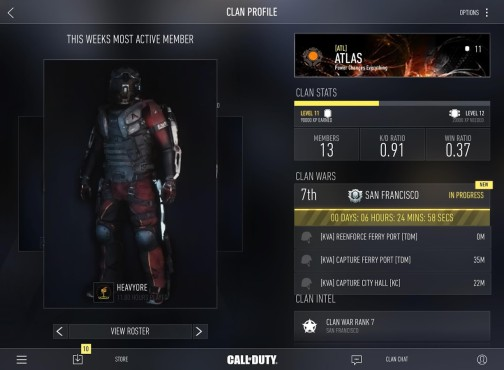 Call of Duty – Advanced Warfare Companion App © Activision