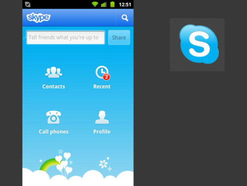 Skype für Android 2.0 ©Skype