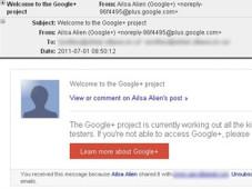 Vorsicht: Betr�ger verschicken falsche Google+-Einladungen Die gef�lschte Einladung sieht einer echten zum Verwechseln �hnlich.