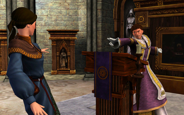 Simulation Die Sims Mittelalter: Priester ©Electronic Arts