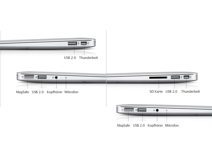 apple macbook air 2011 design und anschl sse bilder. Black Bedroom Furniture Sets. Home Design Ideas