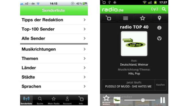 Platz 5: Radio.de ©Google