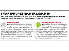 Smartphones sicher l�schen ©COMPUTER BILD