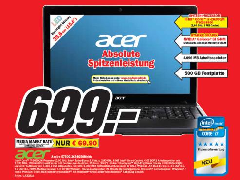 Acer Aspire 5750G-2634G50Mnkk ©Media Markt