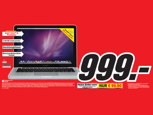 "Aplee MacBook Pro 13"" MC 700 © Media Markt"