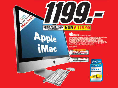 "Apple iMac 21,5"" MC309 © Media Markt"