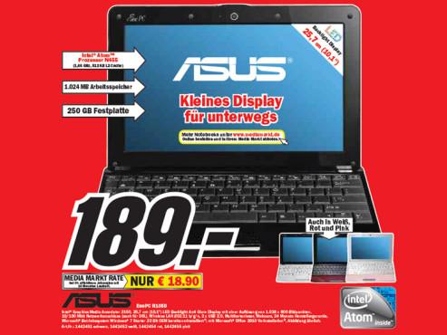 Asus Eee PC R105D ©Media Markt