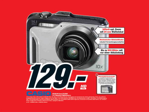 Casio EXILIM Hi-Zoom EX-H20G © Media Markt