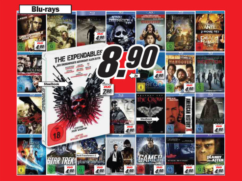 Diverse Blu-ray-Filme ©Media Markt