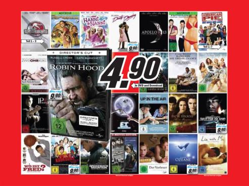 Diverse Film-DVDs und Neuheiten ©Media Markt