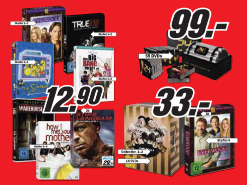 Film-Boxen, Serien, Staffeln © Media Markt