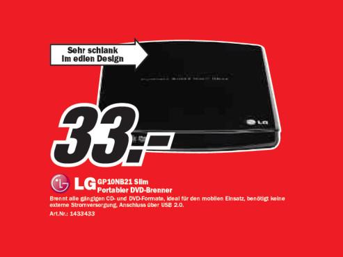 LG GP10NB21 Slim ©Media Markt