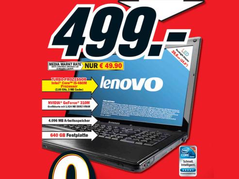 Lenovo G560 M27D6GE ©Media Markt
