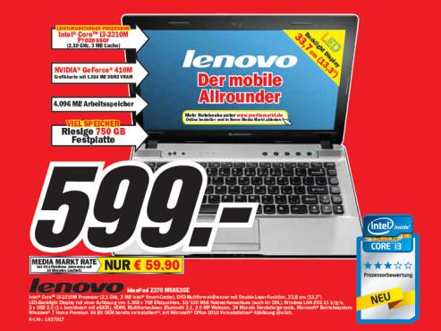 Lenovo IdeaPad Z370 M5653GE ©Media Markt