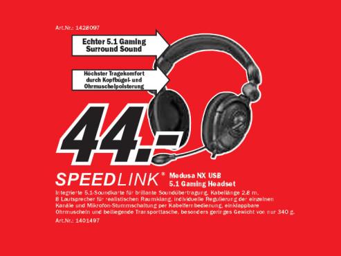 Speedlink Medusa NX USB ©Media Markt