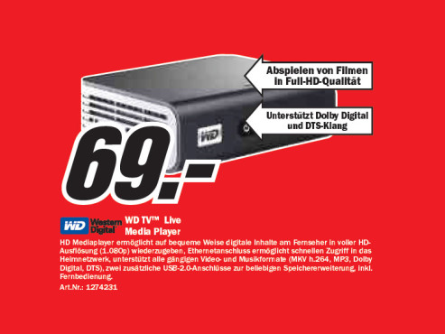 Western Digital WD TV Live © Media Markt