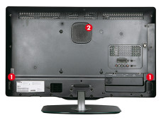 Philips 32PFL6606K - Rückseite © Philips