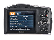 Kontrollmonitor Canon Powershot SX150 IS ©COMPUTER BILD