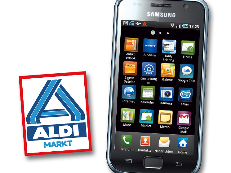 samsung galaxy s f r 299 euro bei aldi nord computer bild. Black Bedroom Furniture Sets. Home Design Ideas